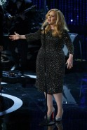 "British singer Adele performs the song ""Skyfall,"" nominated for best original song at the 85th Academy Awards in Hollywood"