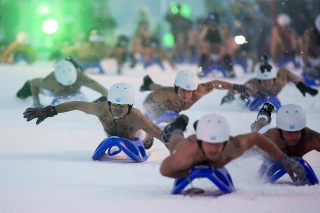 2013 Naked Snow-Sledding Race
