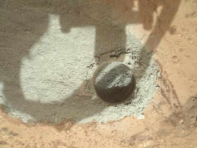 NASA Drills A Hole On Mars