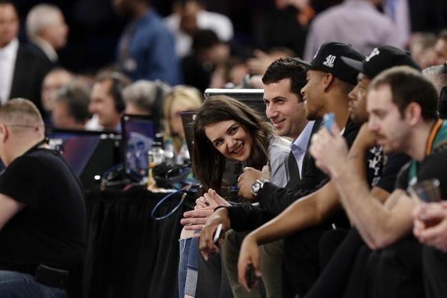 Katie Holmes Sizzles at NBA