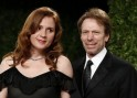 Producer Jerry Bruckheimer and his guest attend the 2013 Vanity Fair Oscars Party in West Hollywood