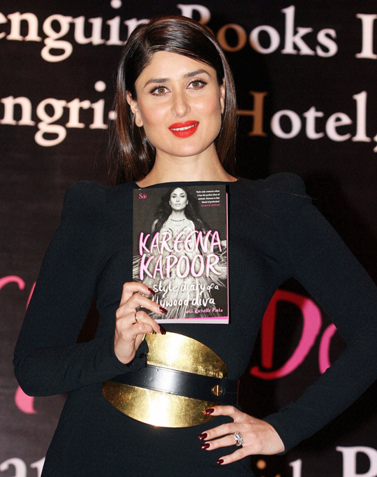 Kareena Kapoor during the launch of the book Kareena Kapoor: The Style Diary of a Bollywood Diva, in Mumbai, on 6th February.