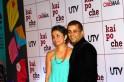 Chetan Bhagat with wife