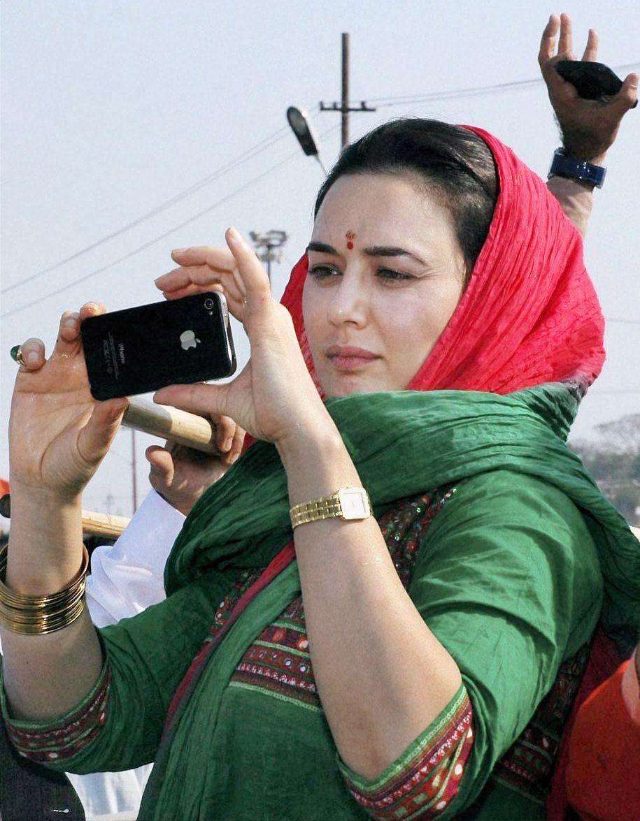 Preity Zinta at the Maha Kumbh Mela, Allahabad