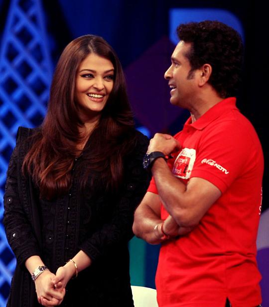 Aishwarya Rai Bachchan and Sachin Tendulkar