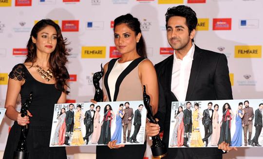 Ileana D'Cruz, Richa Chaddha, Ayushmann Khurrana