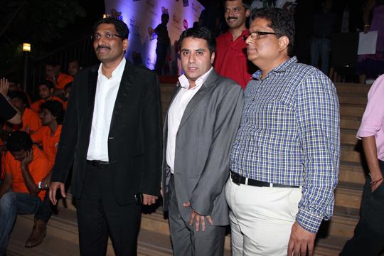 Sudhakar Shetty (Chairman-Sahana Group) Waahiid A. Khan and Naveen Shetty (MCA Member)