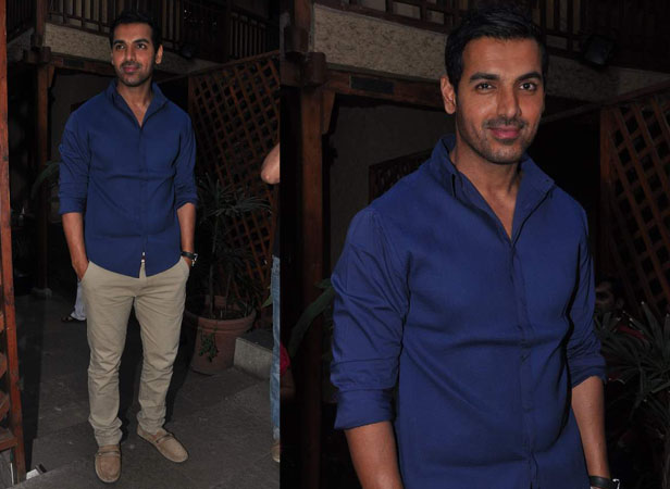 John Abraham was recently seen on a date with a dozenful of female journalists. The actor was seen chatting about his upcoming film I, Me Aur Main.