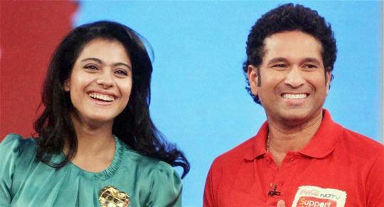 Kajol and Sachin Tendulkar