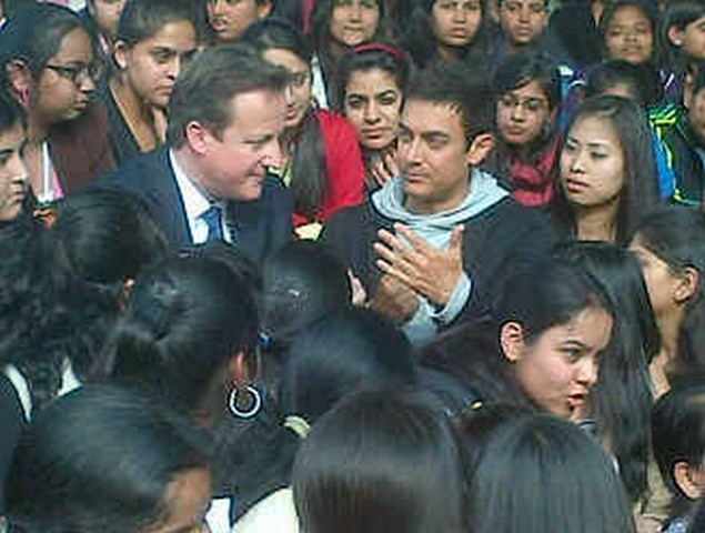 Aamir Meets David Cameron