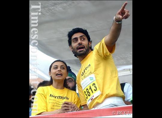 Abhishek Bachchan and Rani Mukherjee during the