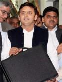 Chief Minister Akhilesh Yadav presenting annual budget 2013-2014 speech at the vidhan sabha in Lucknow.