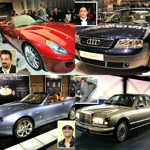 They may not always be behind the wheel of the uber luxurious drives they pull up in, but here's a list of celebs with car collections that are very noteworthy.