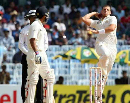 James Pattinson in action
