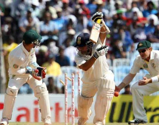 Sachin Tendulkar bowled by Nathan Lyon  Image: ICC, BCCI