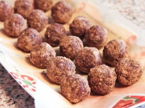 Cocoa Oat Truffles