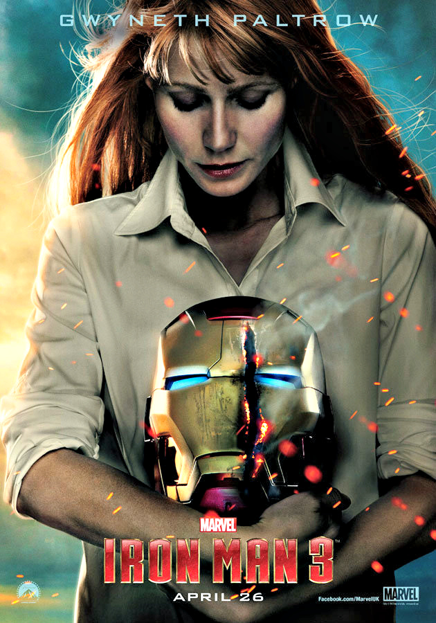 Character Poster: Gwyneth Paltrow as Pepper Potts in Iron Man 3  Image Courtesy: Yahoo!