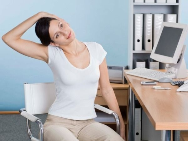 Ergonomics :Exercises at work station