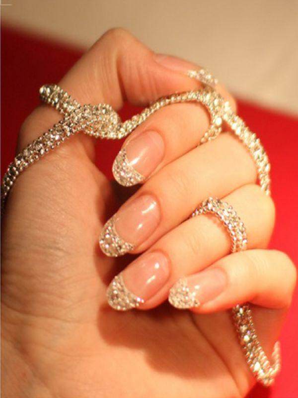 At $51,000, Cherish Angula's Ice Manicure revamps your nails using 10 carat diamonds; ergo, the diamond manicure is born.  Image Courtesy: Cherish...ME