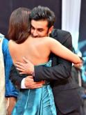 Ranbir Kapoor hugs Priyanka Chopra