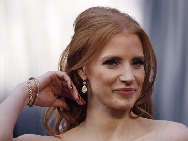 In 2012, Oscar nominee Jessica Chastain wore $2 million worth of Harry Winston bling to the Awards ceremony.