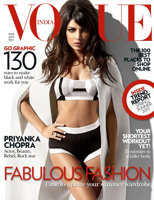 Priyanka Chopra on Vogue India