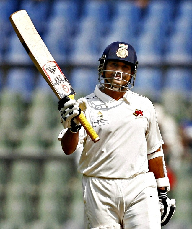 Sachin Tendulkar scored his 81st first-class century and became the joint highest centurion (with Sunil Gavaskar) in the Indian cricket history. (Photo: PTI)