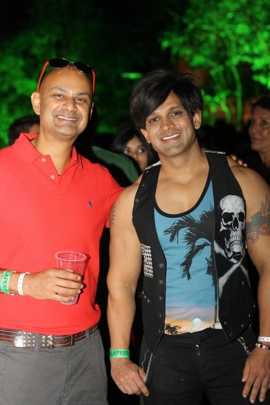 Rajeev Samant, Founder & CEO, Sula Vineyards with Yash Birla at SulaFest 2013