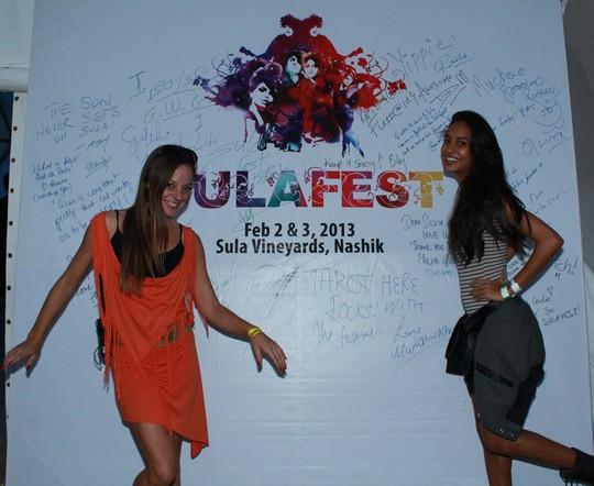 Cecilia Oldne, Global Brand Ambassador, Head - International Business and Lisa Haydon at SulaFest 2013