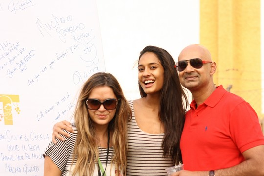 Chef Silvia Grimaldo, Vinoteca by Sula; Lisa Haydon and Rajeev Samant, Founder & CEO, Sula Vineyards at SulaFest 2013