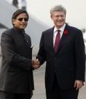Stephen Harper, Shashi Tharoor