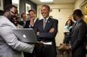 President Obama Backstage