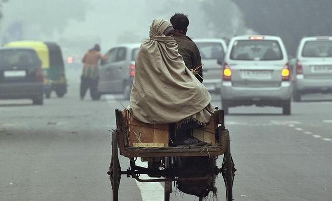 INDIA-WEATHER-FOG