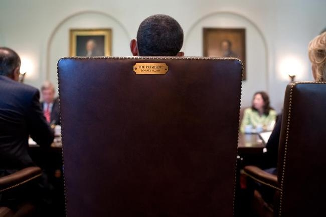 Barack Obama Holds A Cabinet Meeting