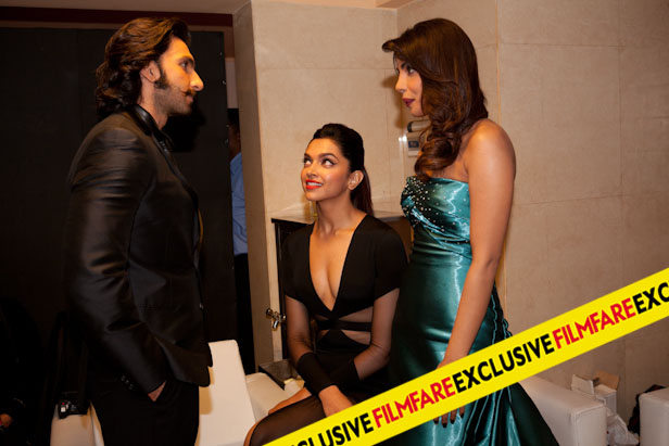 RANVEER, DEEPIKA AND PRIYANKA