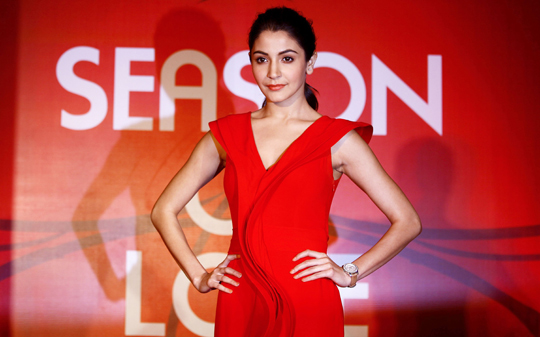 Anushka Sharma, brand ambassador for Gitanjali Jewels, launches the 'Season of Love' offer, in Mumbai, on 24th January.
