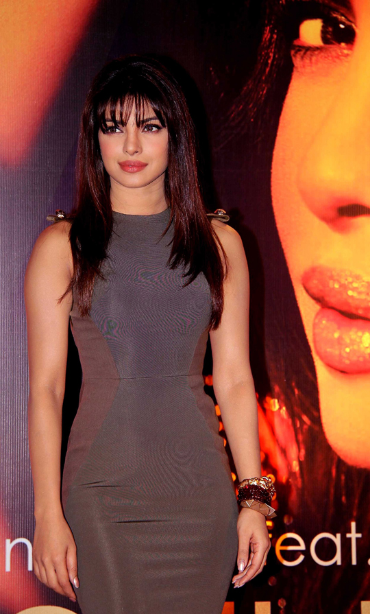 Priyanka Chopra during the release of her album In My City in Mumbai on 29th January.