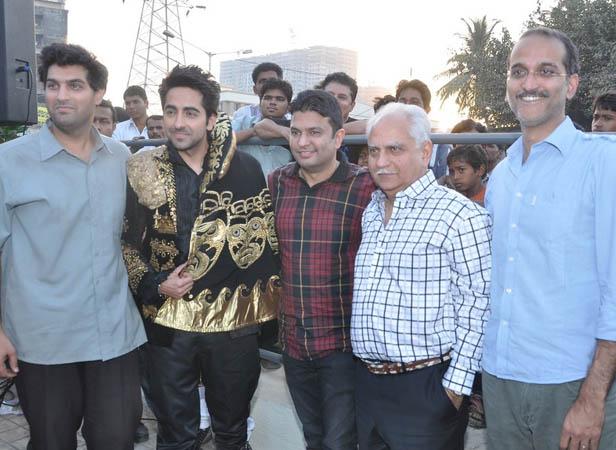 Kunaal Roy Kapur, Ayushmann Khurrana, Bhushan Kumar, Ramesh Sippy and Rohan Sippy