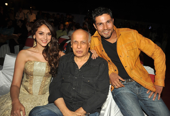 Randeep Hooda and Aditi Rao Hydari with Mahesh Bhatt