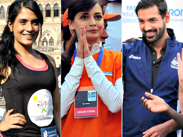 This year, Mumbai Marathon saw the presence of people from different walks of life and from different nations too. Though the celebrity turnout was low at this annual event, here are some who were seen at the Mumbai Marathon 2013.