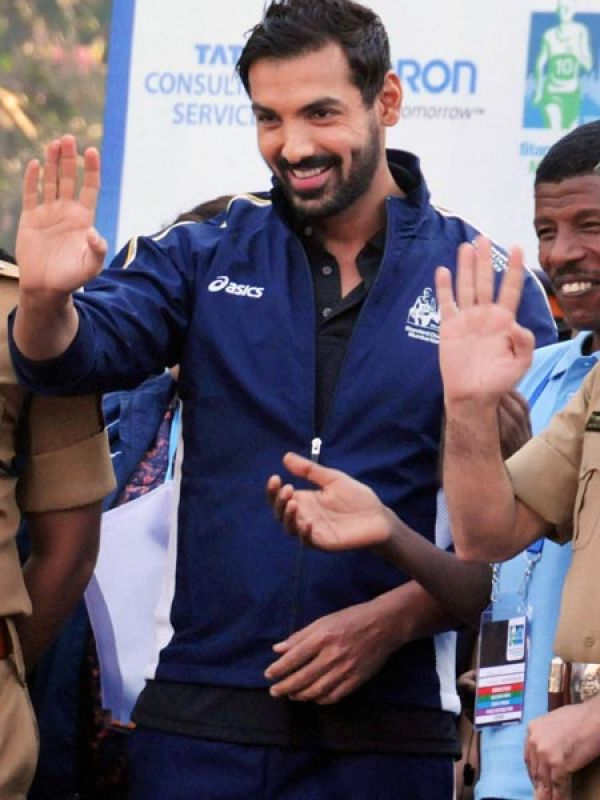 John Abraham: Showing his support like every year was actor John Abraham.