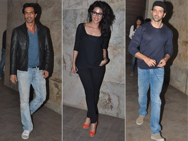 The special screening of Sudhir Mishra's film Inkaar saw the presence of A-listers from Bollywood on Monday. The film that revolves around sexual harassment at the workplace stars Arjun Rampal and Chitrangada Singh in the lead roles. Here's all the celebrities who attended the film screening.