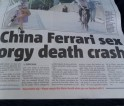 China Ferrari sex orgy death crash