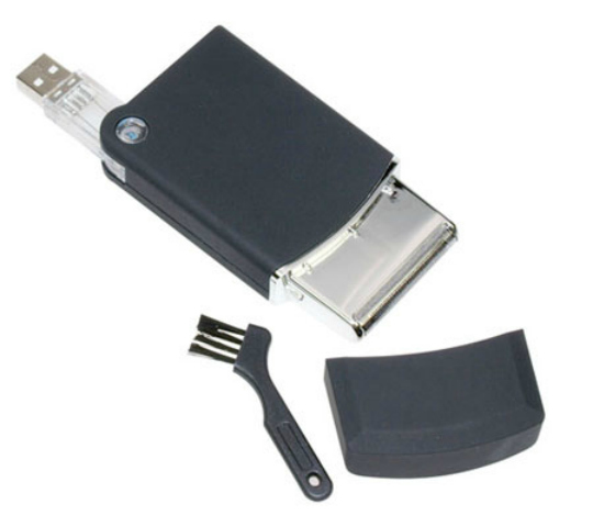 USB Shaver: Move over USB mouse, USB keyboard, USB hard disks, and make room for the USB Shaver. You may not have been waiting for this (one can't imagine something like this in the first place), but now that it has arrived, it has to be grabbed with both hands. Take this to your office, because you never know when you will be required for a meeting. The regimented stubble that the USB shaver gives you would most certainly dismiss the notions that you need to be clean-shave for high-profile meetings.