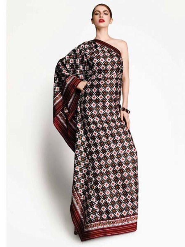 Gucci dress in Gujarati Patola fabric