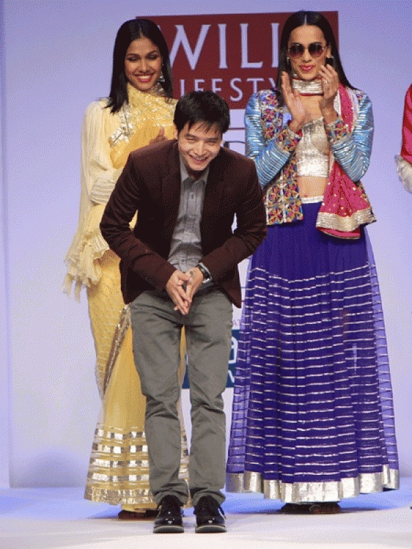 Jenjum GadiTirbin (Assam)- born Jenjum Gadi launched his career in fashion in 2008, when he landed his first job with Indian fashion's bad boy, Rohit Bal.After a stint with the designer, and a label - Koga - he launched with a friend, Gadi made his solo debut with Autumn/Winter last year. What started off as a contemporary take on North-eastern weaves evolved into a Spring/ Summer collection inspired by gota. We saw the appliqué form of embroidery in the form of jackets, sheers skirts and breezy kaftans.
