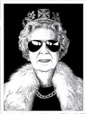 Queen Aviator by Mr Brainwash