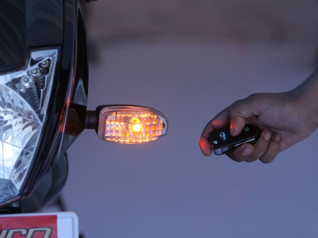 'Find Me' lights to locate the bike in crowded parking lots.