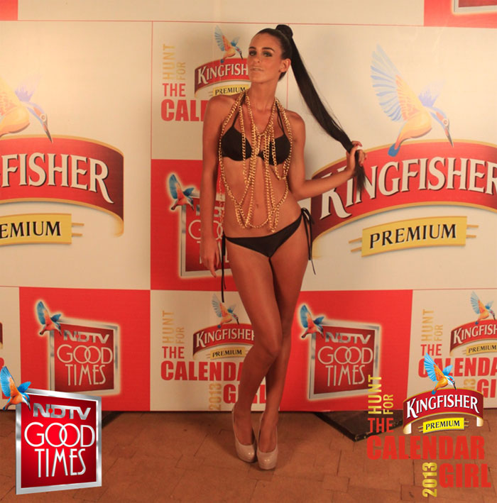 Sexy Serbian babe Nevena Pejatovic is the new Kingfisher Calendar Girl for 2013. Nevena won a contest and defeated 12 other gorgeous girls.Courtesy: NDTV Good Times
