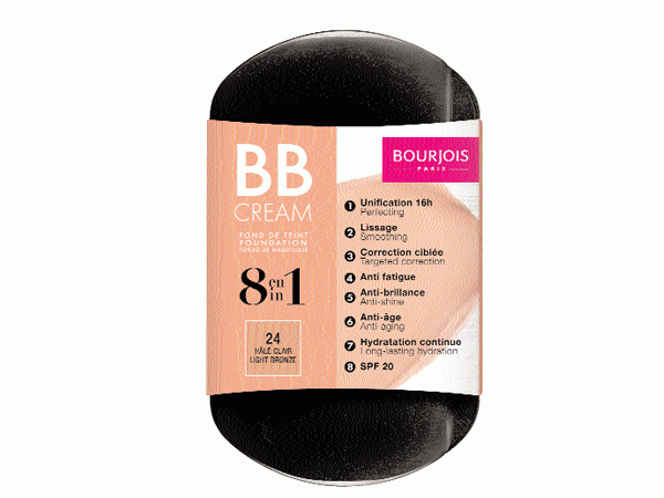 The new BB Cream by Bourjois is a versatile product that works as a foundation, while also treating other skin concerns like ageing, dryness and sun protection. The creamy texture effortlessly blends into the skin while the special formula nourishes and protects the skin. The 360-degree rotating mirror is handy and ideal for touch-ups.